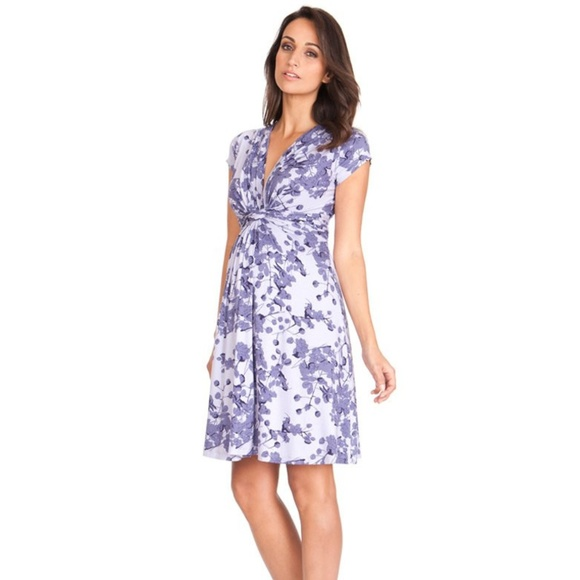 5945c60db4c3d Lavender Blossom Knot Front Maternity Dress. M_5bc3bdfa9539f7beed84e302